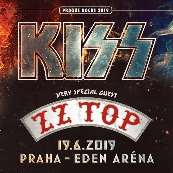 Koncert: ZZ Top, Kiss – Praha 2019 (End of the Road World Tour)