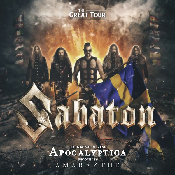 Koncert: Sabaton, Apocalyptica, Amaranthe – Praha 2019 (The Great Tour)